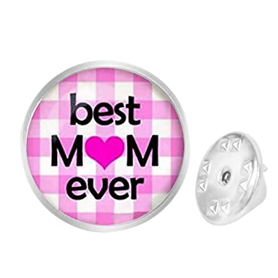 Amazon com: Custom Lapel Pin Brooches Best Mom Ever Mothers