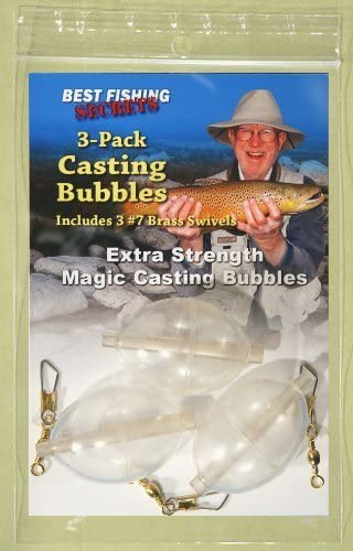 """A Just A Bubble 1//4/"""" Assorted Colors, 3 Total Bobbers"""