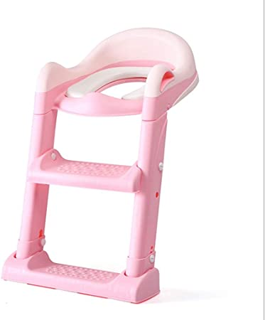 Asiento Escalera Mangohood entrenamiento insignificante del asiento de tocador con taburete de paso de escalera Niño del tocador de escalera Silla de bebé Mujer Kid Boy WC asiento de inodoro cubierta: Amazon.es: