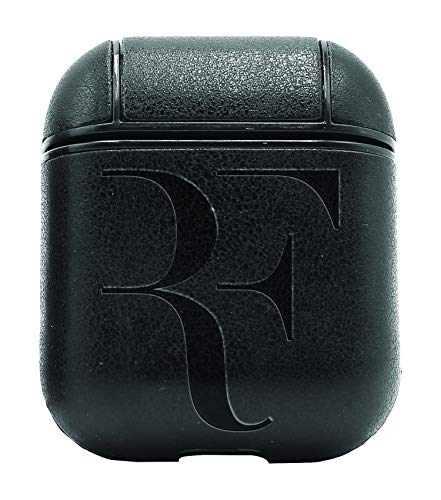 RF Tennis Legend Roger Federer (Vintage Black) Air Pods Protective Leather Case Cover - a New Class of Luxury to Your AirPods - Premium PU Leather and Handmade exquisitely by Master Craftsmen