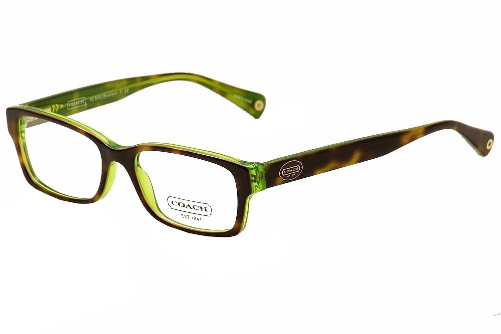 Coach Women's HC6040 Eyeglasses Tortoise/Green 50mm