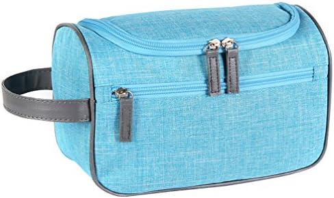 Azul Bolsa De Aseo Mujer Viaje Maquillaje Cosmético Neceser Hombre Almacenaje Aseo Bolso Con Compartimentos Niñas Viajar Estuche Para Cosmeticos Con El Gancho: Amazon.es: Equipaje
