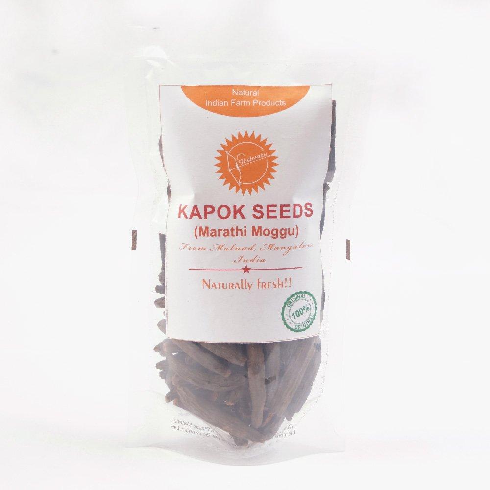 Ikshvaku Organics Kapok Seeds (Marathi Moggu) | Natural Indian Farm Products from Malnad, Mangalore | ONE Pack