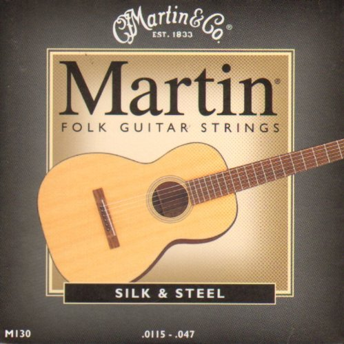 Martin M130 Silk and Steel Folk Guitar Strings | Light
