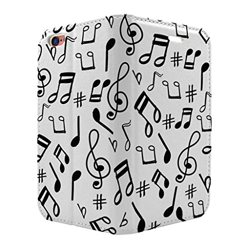 Musik Note Muster Full Flip Case Cover Für Apple iPhone 6–6S–S3776