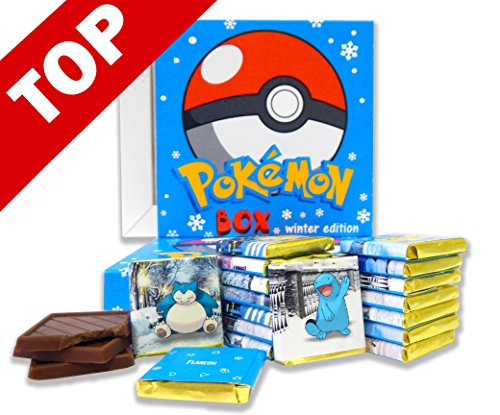 POKEMON BOX WITH CHOCOLATE! ☀ It's funny gift food will be a great holiday gift idea! 8 pieces of chocolate! (Winter big)