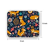 fox mouse pad - MAGICWOLF National Style Fox Pattern Stain Resistance Collector Kit Kitchen Drink Coaster Mouse Pad
