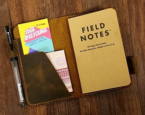 amazon com rugged leather field notes case wallet distressed
