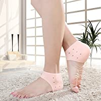 Kanantraders Silicone Gel Swelling Pain Relief Hard Cracked Heels Repair Dry Cream Foot Care Ankle Support Heel Pad Socks/Cushion