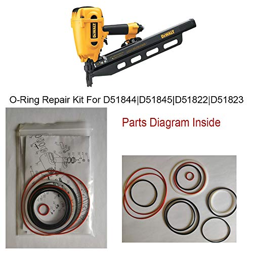 Hakatop O-Ring Kit for DeWALT Framing Nailer Universal D51844 D51845 D51822 D51823 (Framing Nailer O-ring)