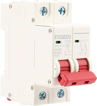 DZ47-63Z-2P Disyuntor,2c DC 500 V 10 A Interruptor de sobrecorriente de seguridad MCB