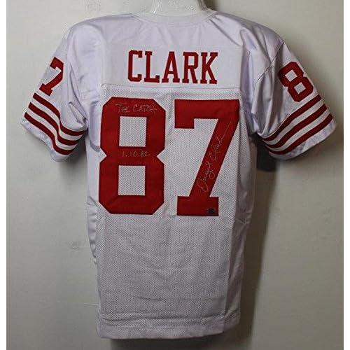 f94a3b4d88a Dwight Clark Signed Jersey - Xl White The Catch 21274 - Autographed NFL  Jerseys