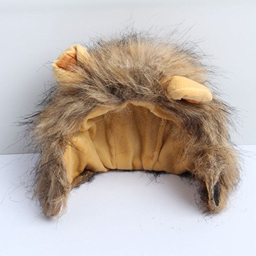 Cats Lion Mane Christmas Costumes Cat Hat Pet Lion Head Small Dogs by royalwise (Image #4)