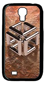 Abstract Cube Category Abstract Resolution - Tags Design Beauty Custom PC Black Case for Samsung Galaxy S4 I9500