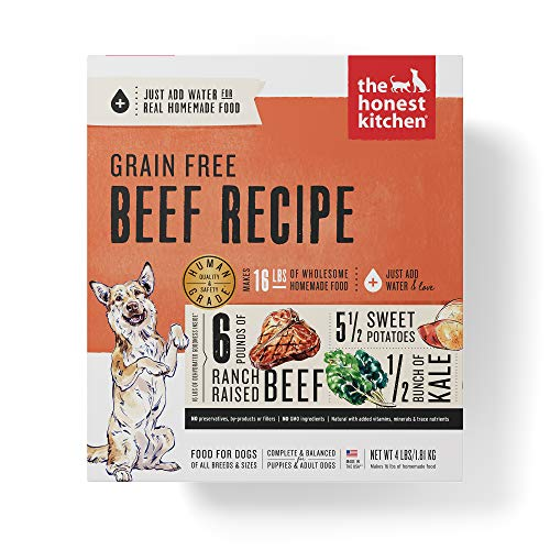 Honest Kitchen Human Grade Dehydrated Grain Free Beef Dog Food 4 lb - Love