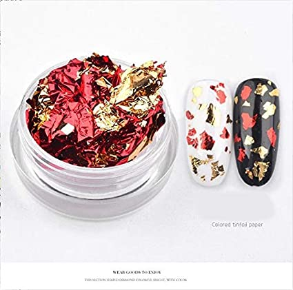 Nails Art Accessories - Nail Jewelry And Decorations, 3D Nail Art Nail Colorful Glitter Aluminum