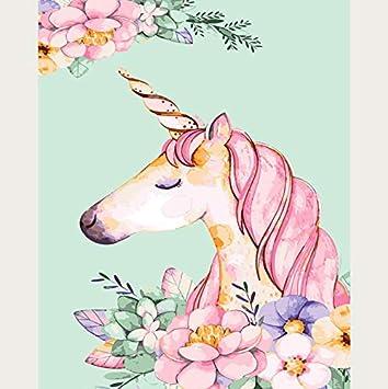 Pintura Por Números Unicornio Diy Pintura Al Óleo Digital Por Números Dibujo Para Colorear Lienzo Pintado A Mano Cuadro En La Pared Decoración Para El Hogar ...