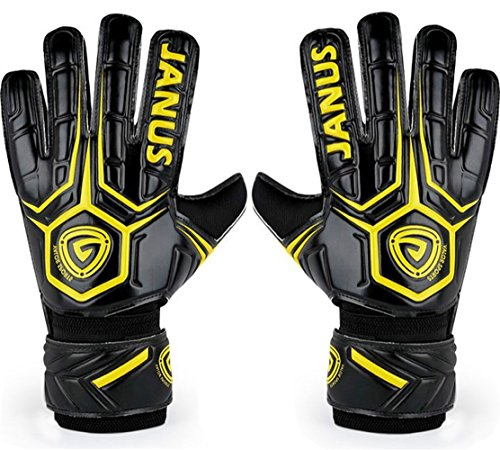 Coodoo Adult & Youth Soccer Goalkeeper Gloves with Pro Fingersave, 3.6mm Strong Grip German Latex Palm,Double Rip-Tab Strap, Match Training goalie gloves for women and men(Size - Training Ball Goalkeeper Soccer