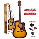 "Spectrum 6 String Acoustic Guitar Pack, Tobacco Sunburst, 41"" Full Size (AIL 263AE)"