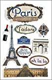 Voyage 3-D Stickers-Paris