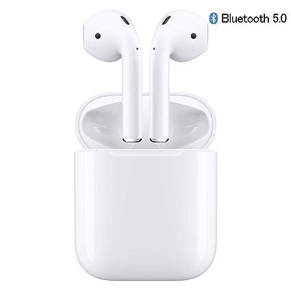 6d61e68d22a Bluetooth Headset, Wireless Headset Bilateral Call Bluetooth Headset V5.0 in-Ear  Earphones