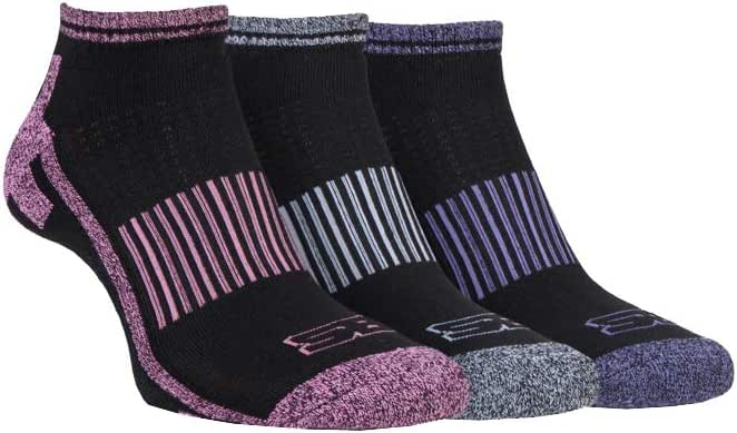 STORM BLOC Women's 3 Pack Breathable Cushioned Low Cut Ankle Trainer Socks