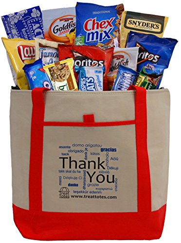 Treat Totes - Thank You Snacks Tote (Thank You Baskets Delivered)