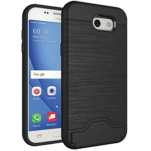 Galaxy J3 Prime Case,Galaxy J3 Eclipse/J3 Mission/J3 Emerge/Amp Prime 2/Express Prime 2/Sol 2/J3 Luna Pro/J3 2017, Hard Hybrid Cover with Card Slot & Kickstand for Samsung Galaxy J3 2017 J327