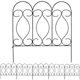 Sunnydaze 5 Piece Traditional Border Fence Set, 24 Inches x 24 Inches Wide Each Piece, 10 Feet Overall