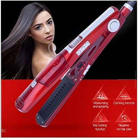YSJ Professional Vapor Hair Straightener Tourmaline Ceramic Steam Flat Iron Fast Heat Hair Styling Tool Steampod Hair Straightener  VyjGp