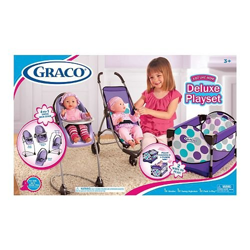 Top baby doll stroller set graco