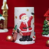 Santa Candle,Flameless Pillar Led Candle with Timer,3x6 inches