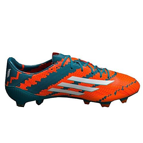 adidas Performance - Messi 10.1 FG, Scarpe da Calcio da Uomo Verde-arancione-bianco