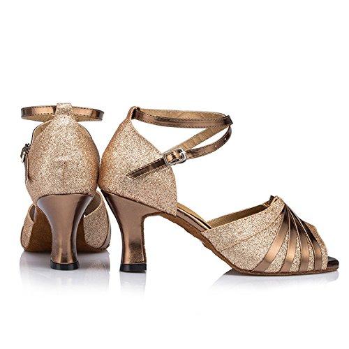 Scarpe Cinturino alla da Jazz Latino Adulti Ballo da per BYLE Samba Cinturino Ballo da Ballo Estate Onecolor Scarpe di Latino Scarpe Cuoio Sandali Caviglia Moderno Scarpe qpgIwRB