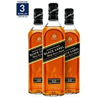 Whisky Johnnie Walker Black Label 750ML (Paquete de 3)
