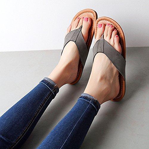 Suaves Con De Maternidad Chancletas Dyfymx Zapatos Antideslizantes Cómodos Carne Planos Elegantes Vaca Tendón Sandalias Suelas Y Casuales zFxYIq