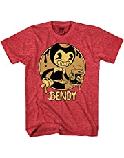 Bendy and the Ink Machine Shirt - Official Bendy T-Shirt - Black and White Bendy Boys T-Shirt