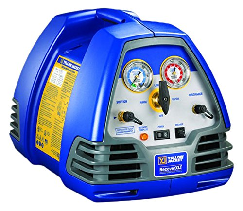 YELLOW JACKET 95760 Recovery Recoverxlt Machine, 115V/60 Hz