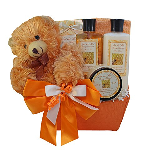 Honey Bear Spa Bath and Body Set Gift Basket