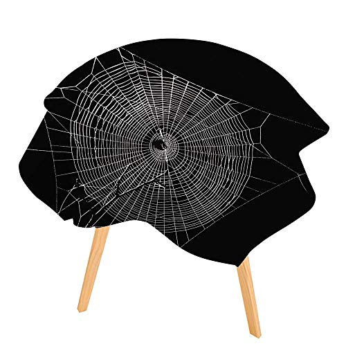 PINAFORE Indoor/Outdoor Tablecloth Spider Web in The Dark Available in Many Different Sizes and Colorways 35.5