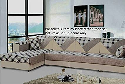 Ofit Soft Brush Microfiber Quilted Sectional Sofa Throw Pads Furniture  Protector Sold By Piece Rather Than