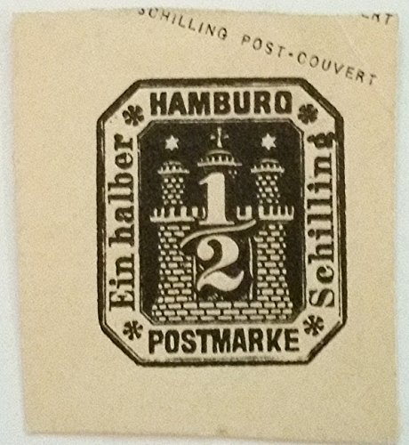 HAMBURG UNUSED STAMP SCU324EE CUT SQUARE.....WORLDWIDE STAMPS