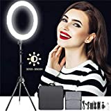 "18 Inches Adjustable 3200-5500K Color Temperature Ring Light, SAMTIAN Dimmable 512 SMD LED Ring Light Photography Video Lighting Kit with 78"" Light Stand, Phone Holder YouTube, Portrait, Vlog, Makeup"
