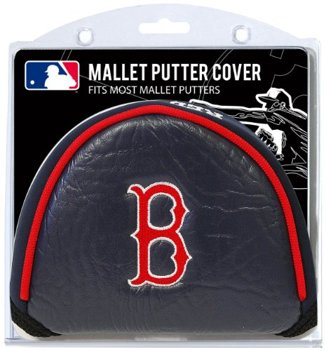 Team Golf MLB Boston Red Sox Golf Club Mallet Putter Headcover, Fits Most Mallet Putters, Scotty Cameron, Daddy Long Legs, Taylormade, Odyssey, Titleist, Ping, Callaway
