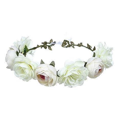 Ssowun Corona di fiori matrimonio 6f1978471870