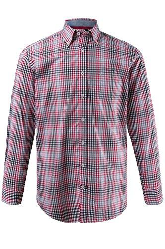 JP 1880 Homme Grandes tailles Chemise à carreaux rouge 6XL 700076 51-6XL