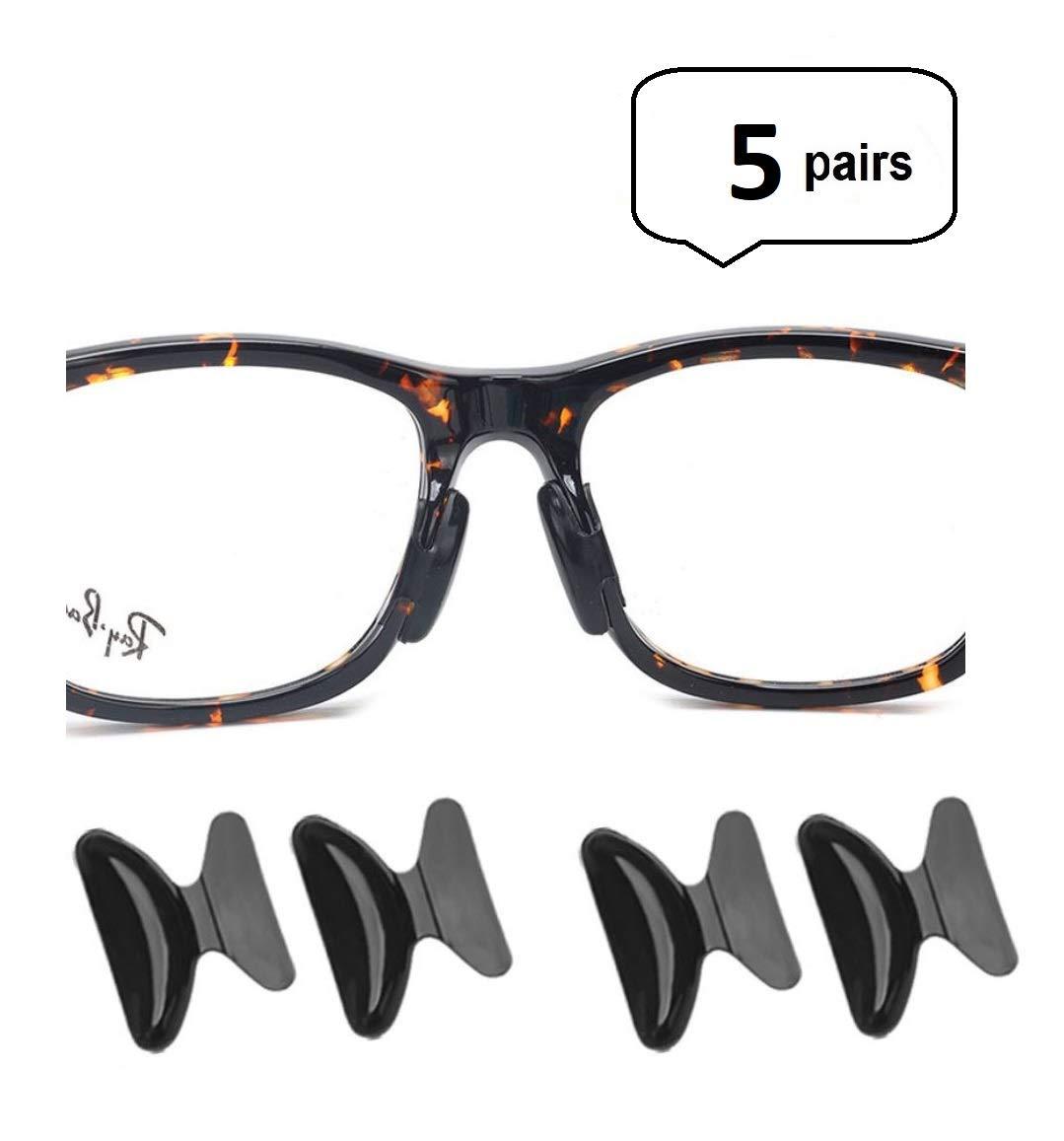 Amazon.com: AM Landen 5 pairs 1.8mm Black Non-slip Silicone Nose ...