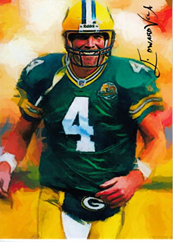 Green Bay Packers Original Art (Brett Favre #4- #47/100 - RARE - Green Bay Packers - VINTAGE VELA -SUPER BOWL CHAMPION- Limited Edition Original Artwork Sketch Card- BUY IT NOW OR MAKE AN OFFER)