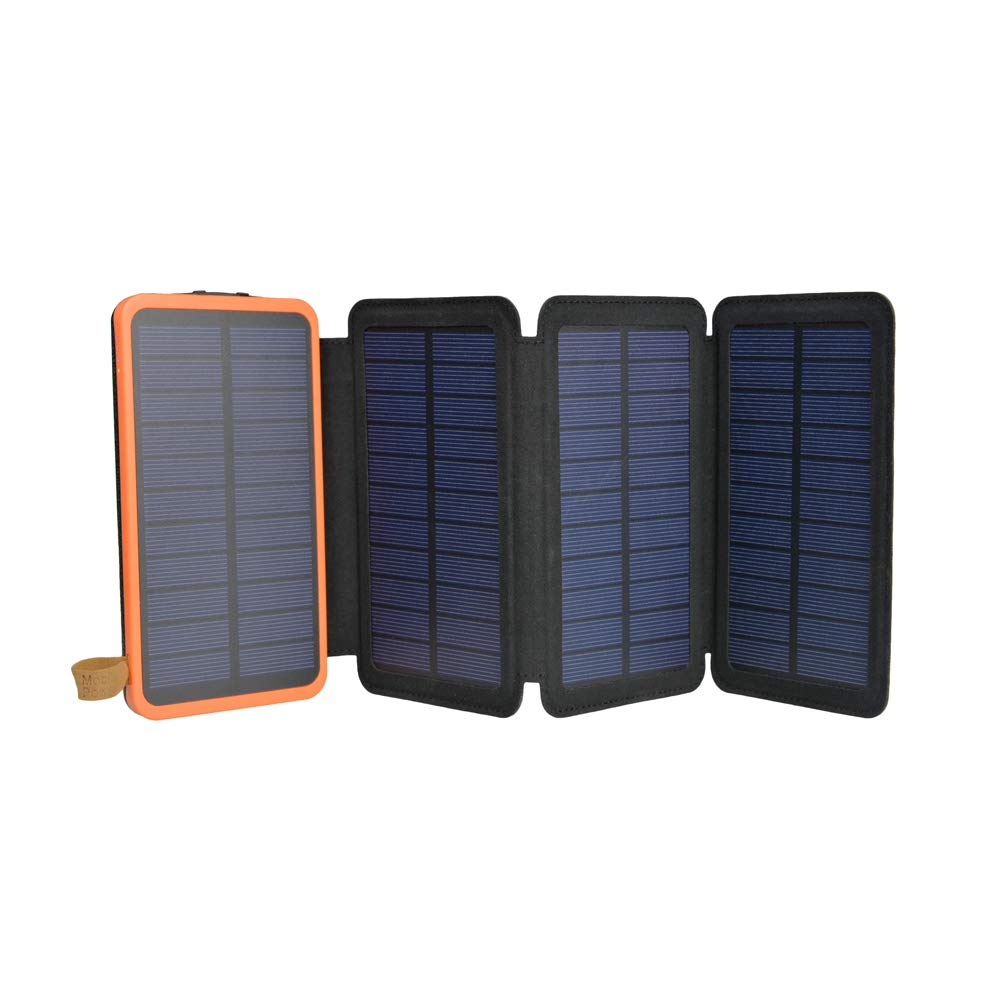 Solar Charger 12000mAh,EREMOKI Outdoor Portable Power Bank with 4 Solar Panels,Fast Charge External Battery Pack with Dual 2.1A Output USB Compatible with Smartphones,Tablets,etc. (Waterproof)