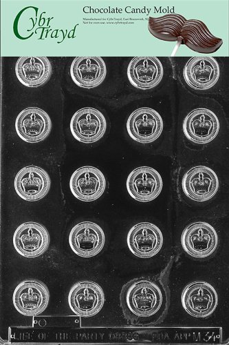 Cybrtrayd M034 Checker Pieces Crowns Miscellaneous Chocolate Candy Mold